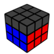 Rubik's cube with only F2L visible